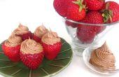 Rellenos de crema batida moka fresas