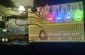 LEDs y sensor de infrarrojos de Arduino