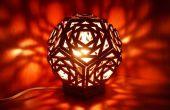 Lámpara geométrica de cartón