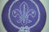 Flor de lis - proyecto de costura los Scouts