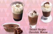 Recetas de postres - Mousse de Chocolate