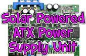 Solar powered ATX fuente de alimentación.