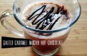 Salados receta de Chocolate caliente de caramelo Mocha