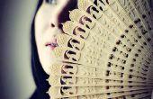 3D impreso chino Oriental ventilador plegable