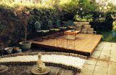 Cubierta de patio trasero de la plataforma de madera