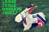 Hojas de origami de gran escala