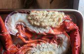 Split Crabcake rellenos de langosta