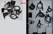 Tablero organizador de cable