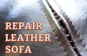 Reparar sofá de cuero costura