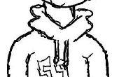 Cómo dibujar una caricatura impresionante sudadera con capucha