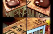 Anique estilo cocina isla mesa acabado con un presupuesto