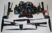 Convertir un quadcopter de brazo fijo a un drone 'mochila' con los brazos extraíbles