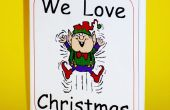 Hacer un pequeño libro de Navidad doblado