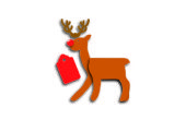 Tarjeta de regalo de Navidad de renos