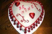 Corazón o ' My Heart - rojo y blanco v-Day Cake
