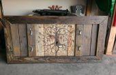 Estante de madera de palet recuperado la pistola