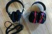 SONY MDR-7506s dentro de Tekk 30db ruido reducción orejeras de 3 M