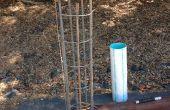 Hacer barras de refuerzo de jaulas en el sitio de pilas concreto
