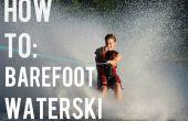 Cómo esquí acuático descalzo