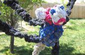 Crochet un resistente perro de juguete de remolcador de calcetines viejos