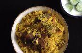 Pulao/Pilaf de cordero - comida de una olla