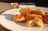 Nuggets de pollo ramen tallarines