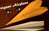Origami avión - avión de papel