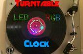 Plato reloj de LED RGB