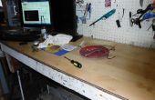 Laminado con madera para una mesa de trabajo