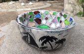 Tazón de mosaico de vidrio de mar
