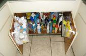 En la cocina fregadero bolsa de almacenamiento