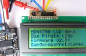 HD44780 LCD para tablero de adaptador I2C para el Bus Pirate