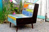Barco del faux pintura madera acabado y la plataforma de silla de madera