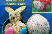 Un (huevo) citando a huevo tela con regalitos sorpresa dentro