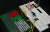 GEEKS son KEWL: Matriz de LED Arduino controlado 18 x 6 (en proceso)