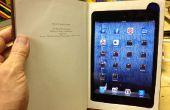 Haz un iPad Mini libro con compartimiento de almacenamiento