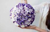 Globo de flor hecha a mano