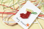 Cómo hacer una tarjeta de Navidad feliz con papel Quilling media