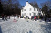 7 pasos para una pista de hielo del patio