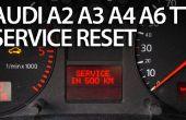 RESET servicio recordatorio en Audi A2, A3, A4, A6, TT