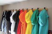 Almacenamiento de estante de la capa de suéter para espacios reducidos