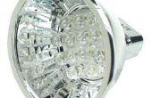 4AA pilas potencia 12V LED Spotlight - 12V fuente de alimentación