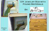 DIY caja de joyería con materiales encontrados