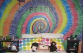 Creación de tye dye en pintura en la pared