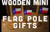 Poste de madera Mini bandera regalos