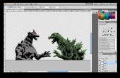 Láser corte Godzilla vs MechaGodzilla plantilla