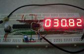 7 Termómetro Digital del segmento usando ATtiny 85