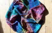 Arco iris Batik bufanda de seda con un teazle!