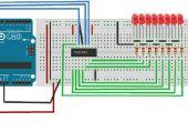Cómo hacer un circuito de resistencia 74HC595 Shift