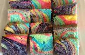 Tarta de cebra del arco iris
